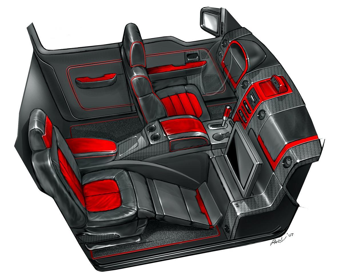 Product cars portfolio selmat group for Custom truck interior design